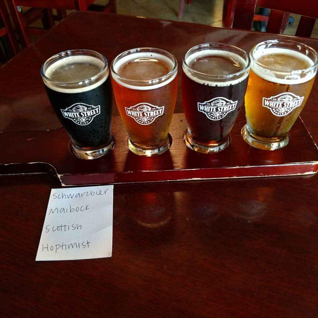 White Street Brewery Flight