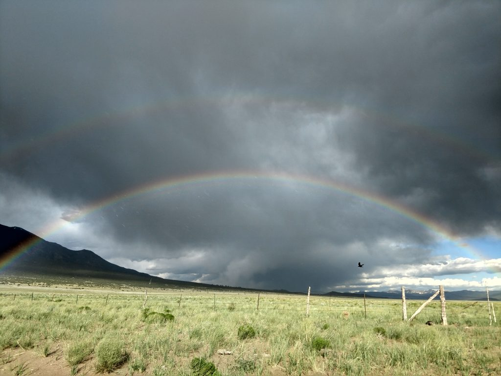 Rainbow over sangre de cristo