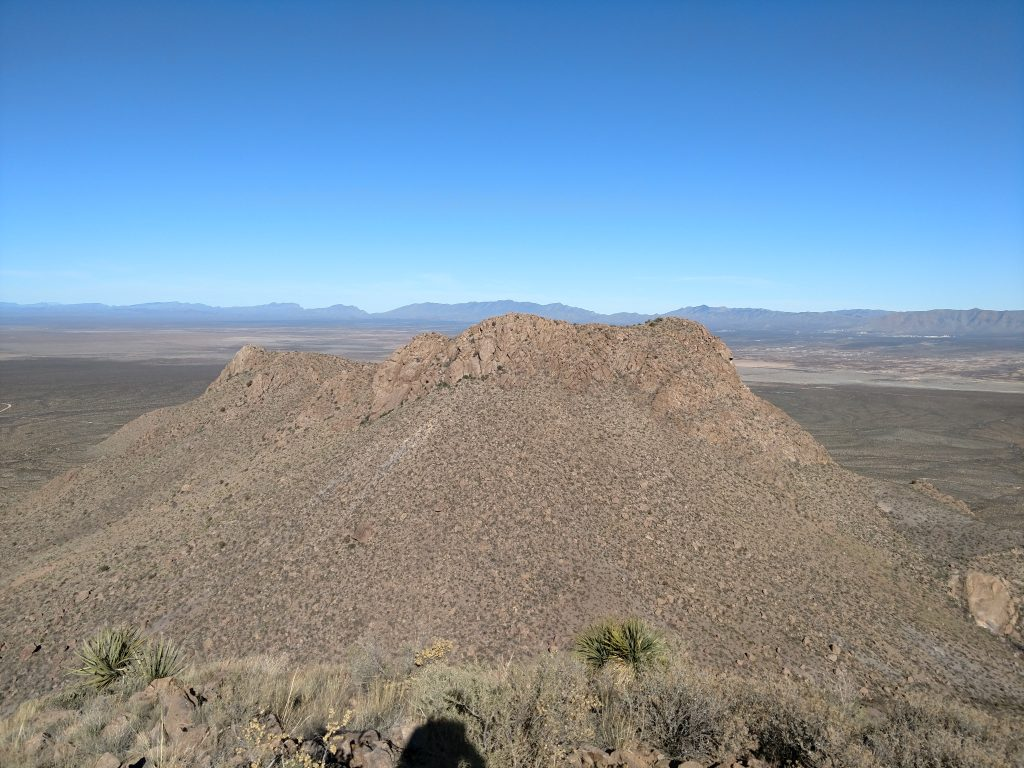 View of Dona ana mountains