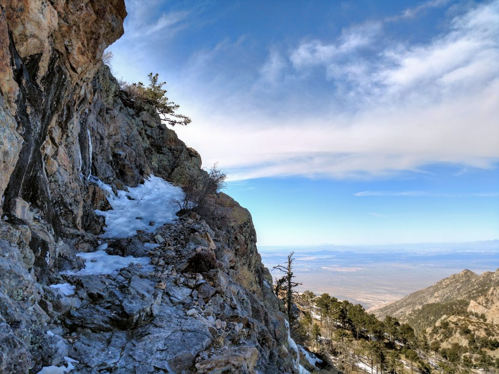 ice on the old baldy trail