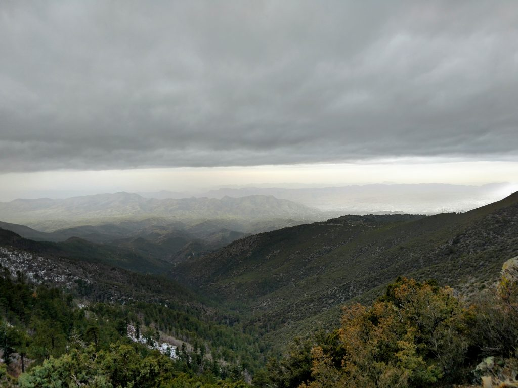 View from summit of Mt Pinal