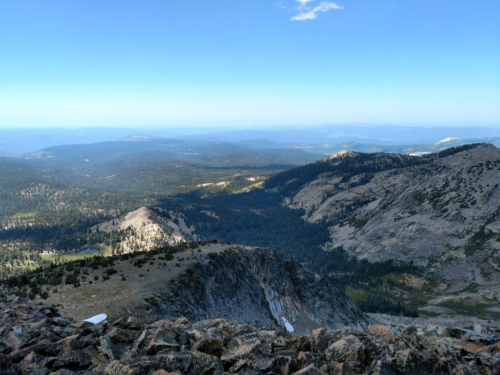 Pyramid Peak summit