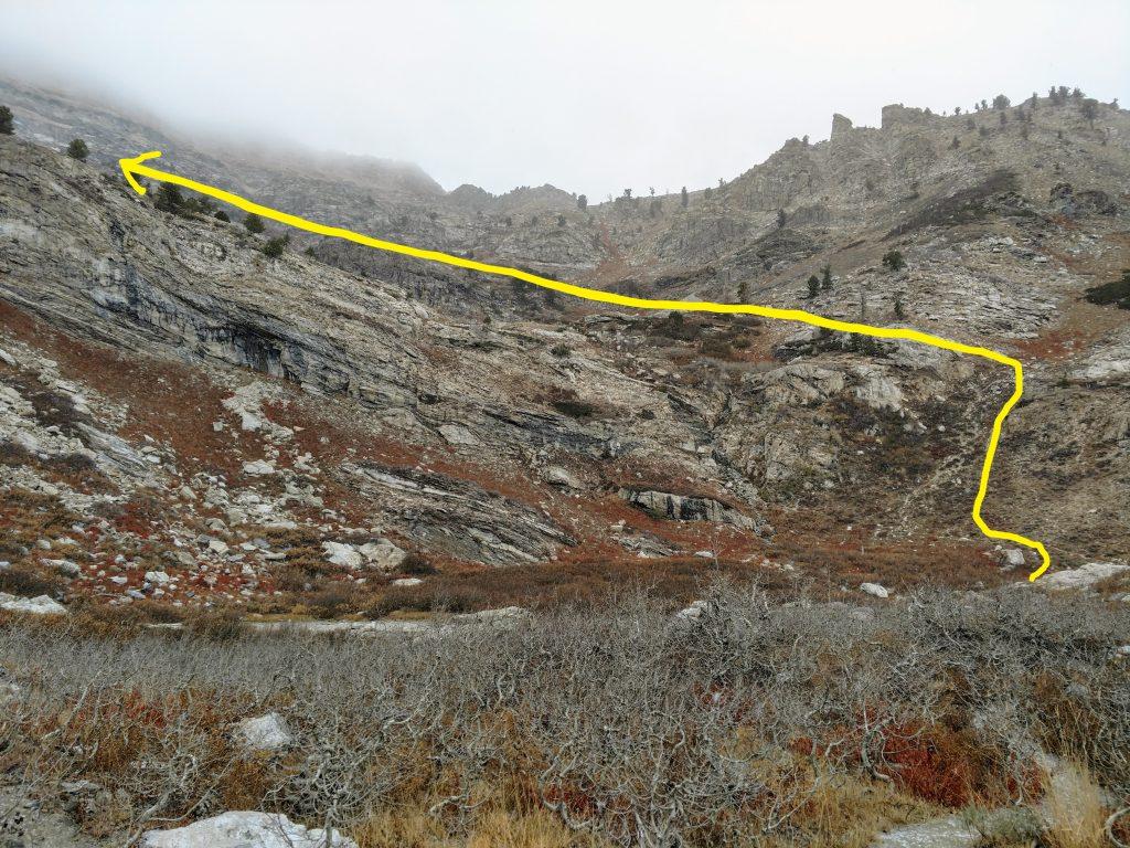 Greys Peak Route East Humboldt Range